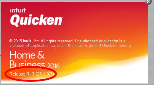 Quicken 2016 Release R3