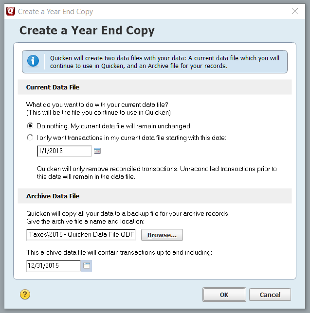 Year End Copy Tool