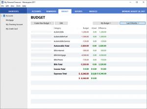 Moneyspire budget