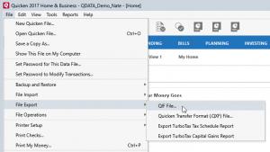 Moneyspire Import Quicken Data Step 1&2