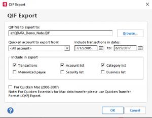 Moneyspire Import Quicken Data Step 3