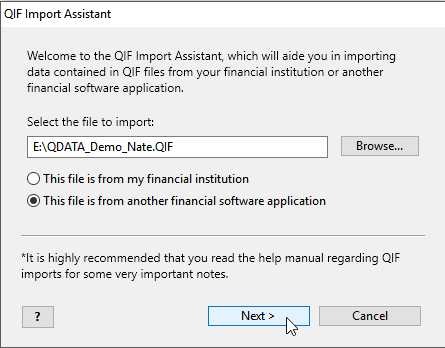 How to import a Quicken data file to Moneyspire - Top Financial Tools