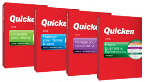 Four versions of Quicken 2018 for Windows