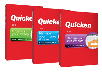 Three versions editions of Quicken 2020 for Mac