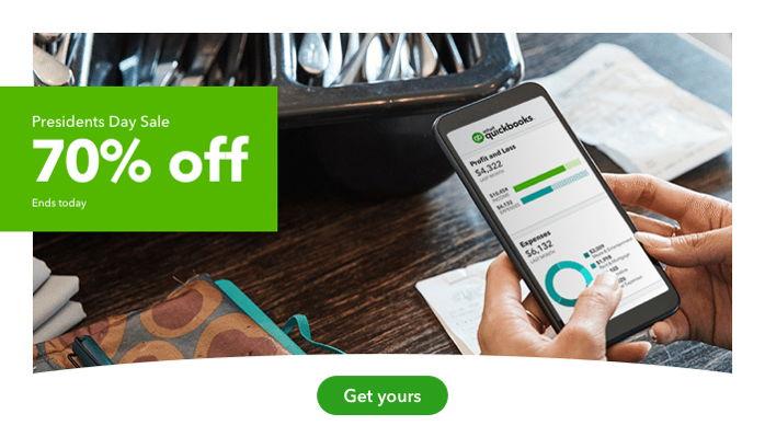QuickBooks Online 70% Off Sale